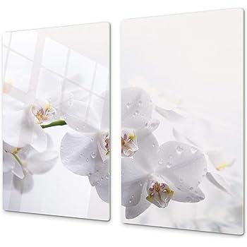 FORNELLO lastre di copertura 60x52 cm Ceranfeld copertura vetro Paraspruzzi Cucina Spezie