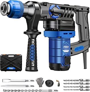 ZHJAN Rotary Hammer Drill,230V 1130W SDS Plus Hammer&Impact Drill 2 Mode in 1,Including 360° Auxiliary Handle, Quick Chang...