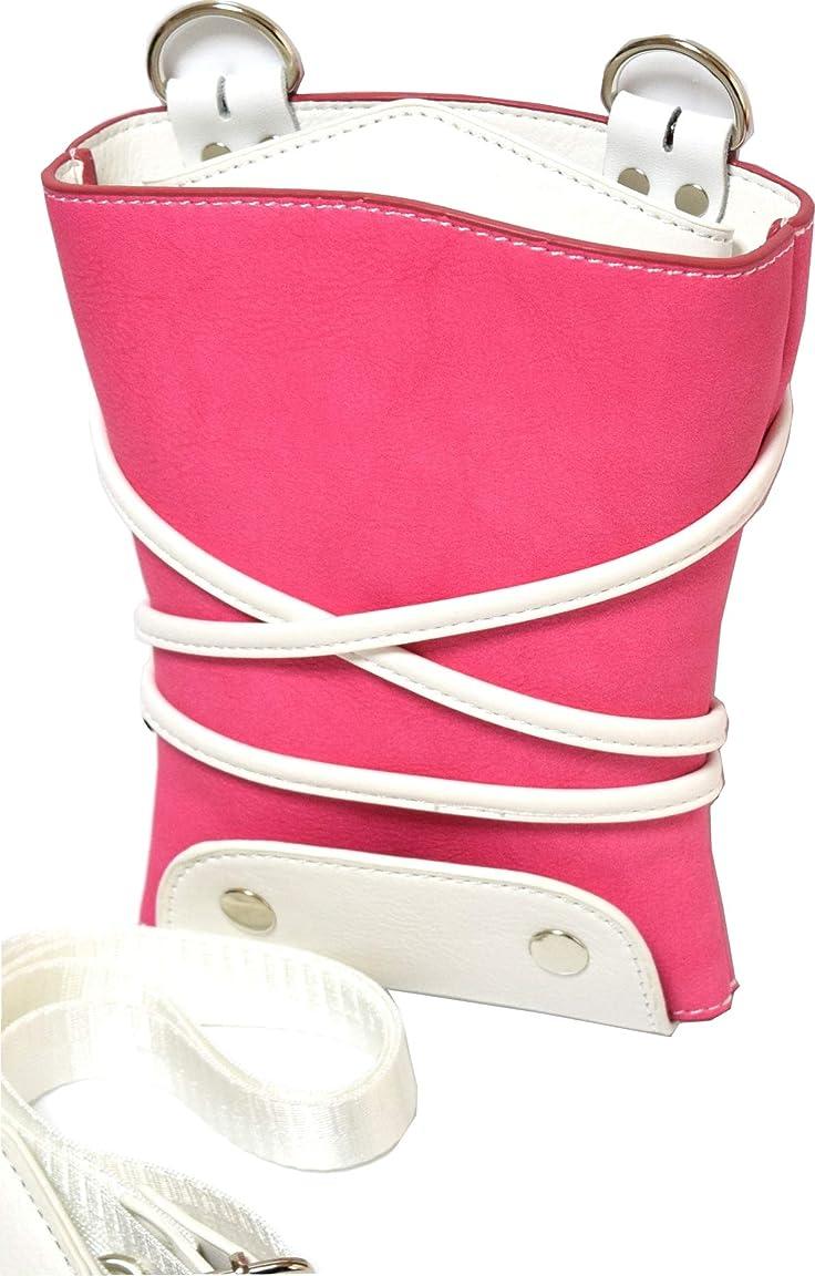 セマフォレインコートユダヤ人シザーバック 美容院 トリマー 専用 メンズ レディース 兼用 切り替えカラー (ピンク)