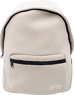 DRFT Neoprene Water Resistant Lightweight Backpack for Travel, Beach, and Sport (White)