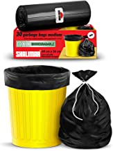 Shalimar Premium OXO - Biodegradable Garbage Bags (Medium) Size 48 cm x 56 cm 4 Rolls (120 Bags) (Black Color)