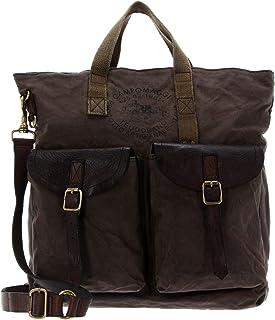 Campomaggi Backpack Shopping Bag V.Militare + T/Grigio + St.Nera