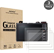 (Pack of 3) Compatible Canon Eos M50 M6D M100 LCD Screen Protector, AKWOX 9H Hardness 0.33mm Camera Tempered Glass Film for Canon EOS M100, EOS M6, M50, PowerShot G9 X Mark II, G7 X Mark II, G5 X, G9