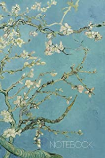 Notebook: Vincent Van Gogh Music Sheet Book Blossoming Almond Tree Notebook Fine Art Impressionism Painting Almond Blossom...