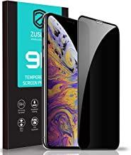 """ZUSLAB Privacy Tempered Glass Screen Protector Compatible with Apple iPhone 11 Pro/iPhone Xs 5.8"""" Case Friendly 9H Hardness Anti Spy"""