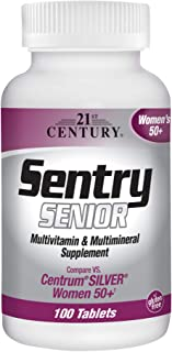 21st Century Sentry Senior Women 50 Plus Tablets, 100 Count (27542)