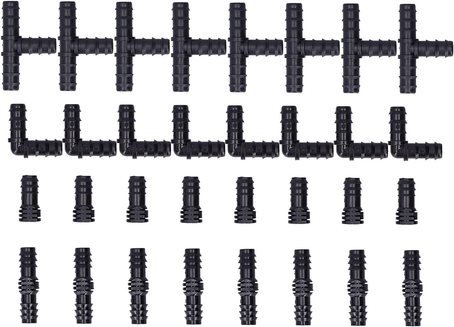 Deror 32Pcs Special Campaign Drip Irrigation Kit Fitting Tees Con Max 90% OFF