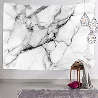 Koongso Black and White Marble Tapestry for Bedroom Living Room Dorm Hippie Handicrafts Artwork Beach Cover Up 60