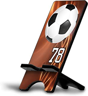 Cell Phone Stand Soccer Ball #SC029 Personalized Player Jersey Number On A Universal Docking Charging Station Stand Customized by TYD Designs Number 78
