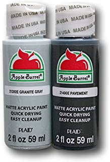 Apple Barrel Acrylic Paint Set - Pavement & Granite Gray (2 Ounces Each)