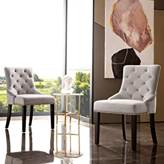 OVIOS Dining Chairs,Velvet Accent Chair Set of 2,Kitchen...
