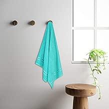 WELSPUN Quick Dry Sea Green Cotton Standard Bath Towel