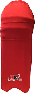 CE Colored Cricket Batting Pads Covers - Leg Guards Clads by Cricket Equipment USA (Crimson Red, Extra-Large)