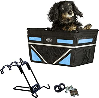 Travelin K9 Pet-Pilot MAX Dog Bicycle Basket Carrier | 2019 Model with 9 Color Options for Your Bike
