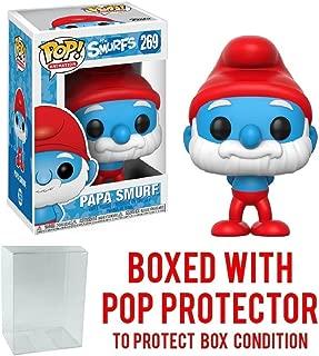 Funko Pop! Animation: Smurfs - Papa Smurf Vinyl Figure (Bundled with Pop BOX PROTECTOR CASE)