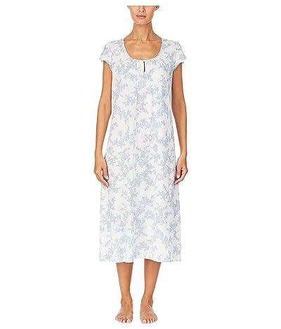 LAUREN Ralph Lauren Floral Ballet Nightgown (Ivory Floral) Women