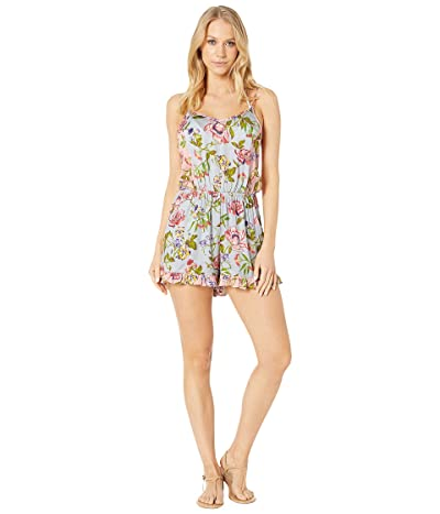 THE BIKINI LAB Garden Vines Romper Cover-Up (Multicolored) Women