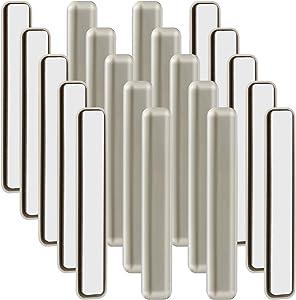 20 Pieces 1/2 x 4 Inch Bar Furniture Slider, Self Adhesive Furniture Moving Pads Rectangular Furniture Movers for Carpet Slider, Moving Furniture Sliders