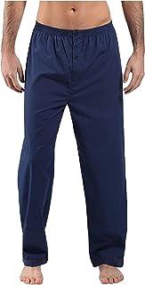 HiA Direct Mens Plain Cotton Long Pyjama Trouser Bottoms Poly Lounge Wear Regular Block Size Casual Wear Elasticated Waist...