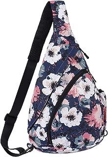 Smith Sursee Sling Backpack - Crossbody Backpacks Rope Bag Multipurpose Daypacks for Man Women Lady Girl Teens (Vintage flower)