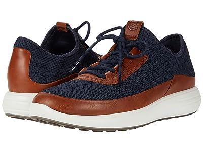 ECCO Soft 7 Runner Summer Sneaker (Amber/Marine) Men
