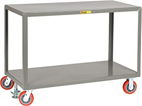 Little Giant IP3060-2R-6PYFL Mobile Tables, 2 Shelves, 3600 lb. Capacity, 2 Rigid & 2 Swivel Casters, 30
