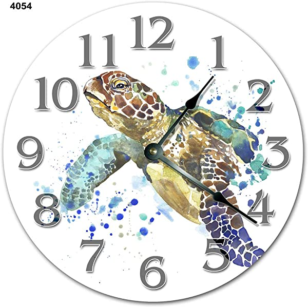 10 5 SEA Turtle Painting Art Clock SEA Turtle Clock Large 10 5 Wall Clock Home Decor Clock