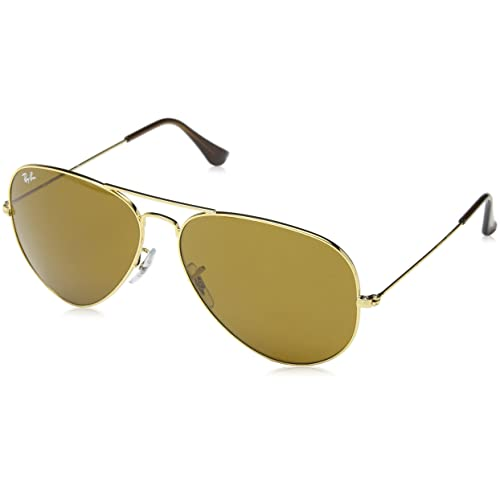 941804afb6 Ray-Ban Classic Aviator Sunglasses in Arista Gold Crystal Brown RB3025 001 33  62