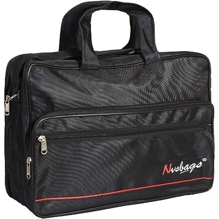 NVSBAGS Office Bag 16 Inch Black for Men Professional Office Messenger Bag, Office Document File Bag Waterproof (Black) (1 Year Warranty)