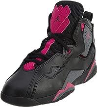 Jordan Kids Air True Flight (Preschool) Black Dark Grey Deadly Pink Basketball Shoes Size 11.5