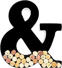 Wine Cork Holder - Metal Monogram Letter (&)