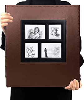 TIM EXTRA BIG 500 photo album memo slot photo album PU leather cover stitched and glued can hold 4x6 photos per page 5 fam...
