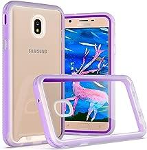 Galaxy J7 2018 Clear Case,J7 Crown,J7 Star,J7 Refine,J7 Aero,J7 Aura,J7 Top,J7 Eon Case,AZHEPU Full-Body Rugged Transparent Protection Case with PC Frame Bumper for Samsung Galaxy J7 V 2018 Purple