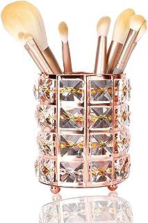 DARUITE Organisateur Maquillage Cristal Boîte de Rangement Brosse de Maquillage Porte cosmétique Coiffeuse Accessoires,Or ...