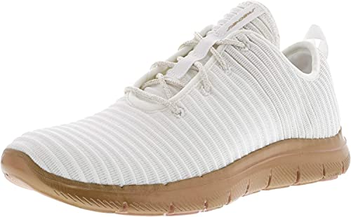 Skechers Wohommes Flex Appeal 2.0 - Chroma Couleur blanc or Ankle-High Fabric Walking chaussures 9M