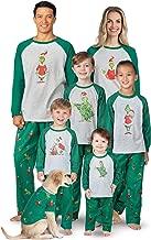PajamaGram Holiday Grinch Pajamas Soft - Family Christmas Pajamas Set, Gray