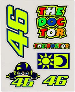VR46 Valentino Rossi #46 Small Sticker Pack 7 Mixed Decals Official Merchandise