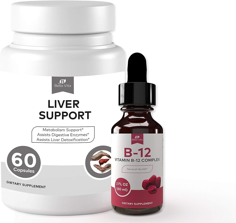 Bella Vita B12 Liquid Drops + Capsules - Popular product Liver Care Supports sale Liv