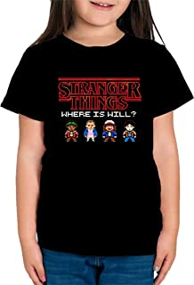 Camiseta de NIÑAS Stranger Things Once Series Retro 80 Eleven Will 011