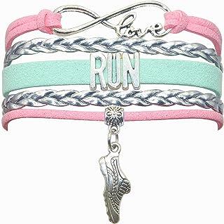 HHHbeauty Run Bracelet Jewelry Runners Running Bracelet Running Gifts Run Jewelry Bracelet Gifts for Women, Girls, Men, Bo...