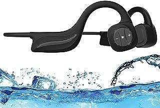 Ipx8 Mp3 Beengeleiding Hoofdtelefoon Waterdicht 16gb Onderwater 10m Snel opladen en automatische verbinding Zwemmen Riddin...