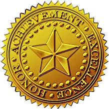 Great Papers! Starburst Embossed and Gold Foil Certificate Seal, 1.75