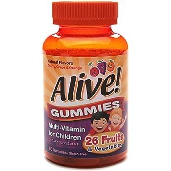 Alive Multi-Vitamin Gummies for Children 60 Each (Pack of 2)