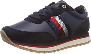 TOMMY HILFIGER Sequins Retro Runner Womens Sneakers Navy