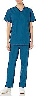 Cherokee womens Unisex Scrub Top and Scrub Pant Set Medical Scrubs Set