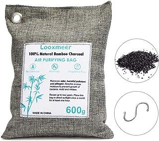 Looxmeer Bolsa Ambientador Natural Coche, Bolsa Carbón Activo Armario, Refrogerador, Oficina, Bolsa Desodorante para Zapat...