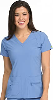 Med Couture Activate Women's V-Neck Racerback Scrub Top