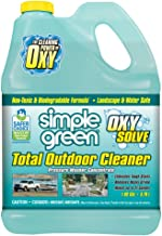 SIMPLE GREEN Oxy Solve Total Outdoor Pressure Washer Cleaner - Removes Stains from Mold, Mildew & Dirt on Patios, Outdoor Rugs & Furniture - Cleans RVs, Boats & Vehicles – Concentrate 1 Gal.