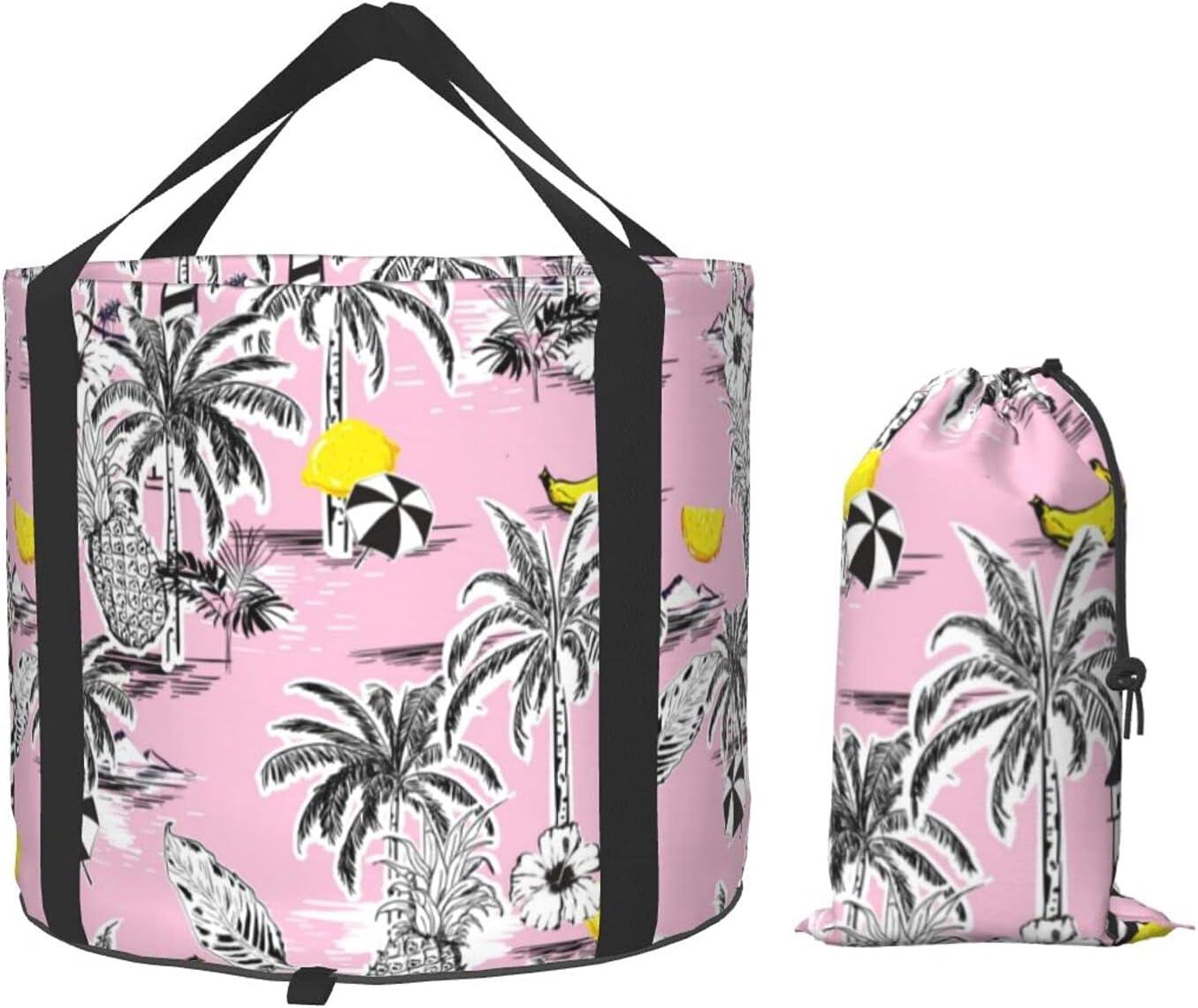 Summer Beach Coconut Tree Pineapple Collapsible Banana Mu Bucket Japan's largest Mail order assortment