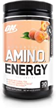 OPTIMUM NUTRITION ESSENTIAL AMINO ENERGY, White Peach Tea, Keto Friendly BCAAs, Preworkout and Essential Amino Acids with Green Tea and Green Coffee Extract, 30 Servings, Net Weight 270 Grams